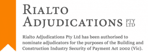Rialto Adjudications PTY LTD